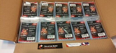 """Ultra Pro - 20 Packs of 500 = 10,000 Card Soft """"Penny"""" Sleeves"""