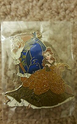 D23 Disney Store Designer Fairytale Couple Pin Beauty and the Beast Belle LE 250