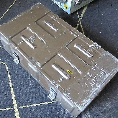 """Military Chest Crate Box Trunk Ammo etc Large 25"""" x 13"""" Khaki Brown Distressed"""