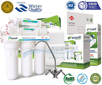 Ecosoft Premium 6 Stage Mineral Reverse Osmosis System with DOW FILMTEC Membrane