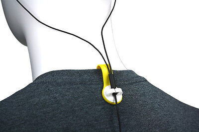 BUD BUTTONS: Yellow Tab/White Clip