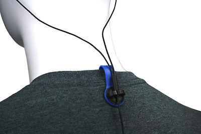 BUD BUTTONS: Blue Tab /Black Clip