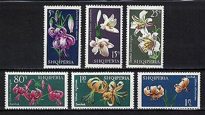 Albania 1970 _ Flowers - Lilies _ Full set - MNH**