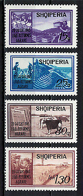 Albania 1970 _ The 25th Anniversary of the Agrarian Reform _ Full set - MNH**