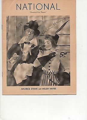 Playbill Twelfth Night Helen Hayes Maurice Evans Signed Autograph 1941