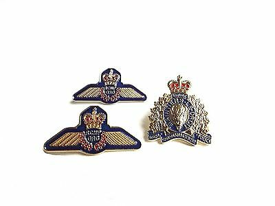 Royal Canadian Mounted Police Crest Air Wing Pins