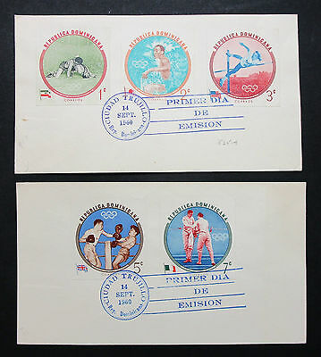 Dominicana FDC Olympic Stamps Olympia Motiv Boxen Ringen Erttags Brief (I-8259