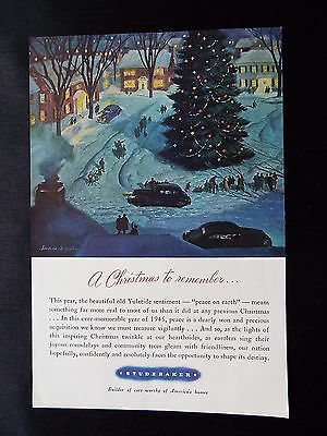 "Studebaker -  ""Christmas ""WWII Vintage Ad of 1945"