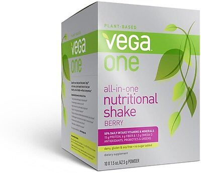 All-in-One Nutritional Shake, Vega, 10 single serving packets Berry