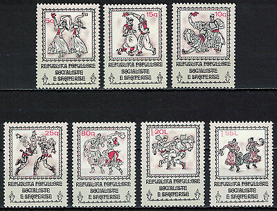 Albania 1977 _ National Costumes and Folkdance _ Full Set - MNH**