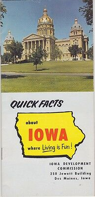 1967 Iowa State Facts Promotional Brochure