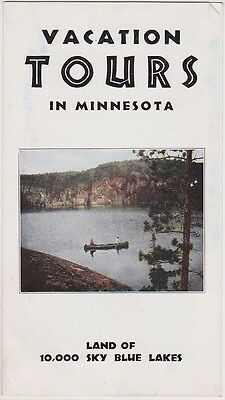1930's Minnesota Vacation Tours Promotional Brochure