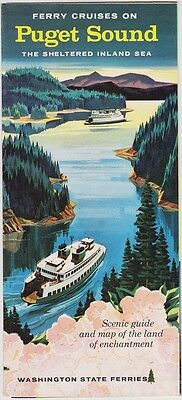 1959 Puget Sound Ferry Cruises Promotional Brochure
