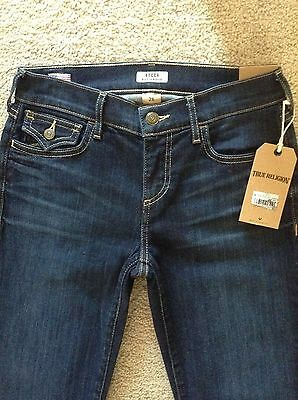 NWT TRUE RELIGION $198 'Becca' Mid Rise Bootcut Jeans*26 Petite*Authentic