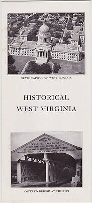 1940's West Virginia Historical Facts Promotional Brochure