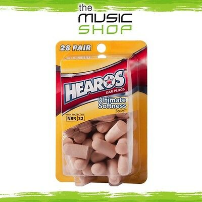 New 28x Pairs Hearos Ultimate Softness Ear Plugs - Original Formulation - HO5225