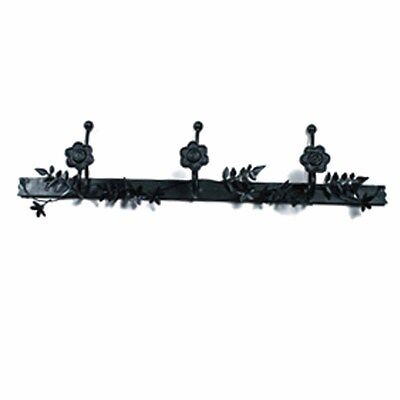 Decorative Triple Hook Black Rose Wrought Iron | Renovators Supply