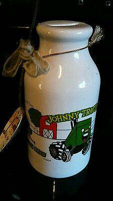 Ceramic Piggy Bank Johnny Green Tractor and His Pals Collectable Painted Spoon