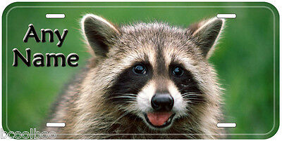 Raccoon Aluminum Tag Any Name Personalized Novelty Car Auto Tag License Plate
