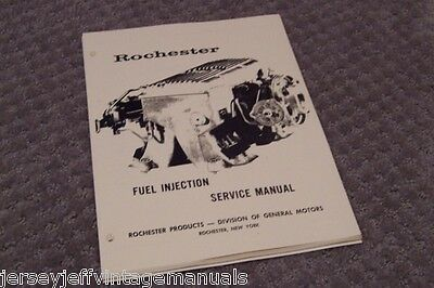 1963 64 65 66 Corvette Fuel Injection Chevy Manual 327 ROCHESTER Air Meter