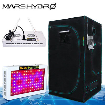 Mars 600W Led Grow Light Lamp+ 39''*39'' Grow Tent room Kits veg/flower plants