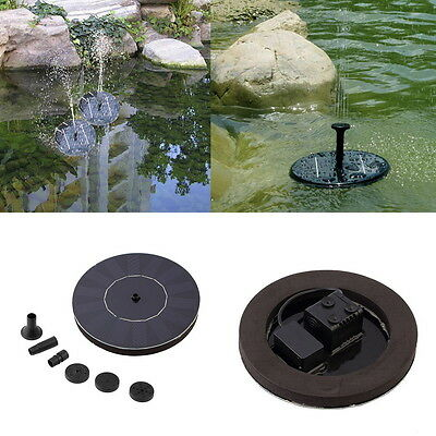 Solar Powered Water Pump Garden Fountain Pond Kit for Waterfalls Display E5