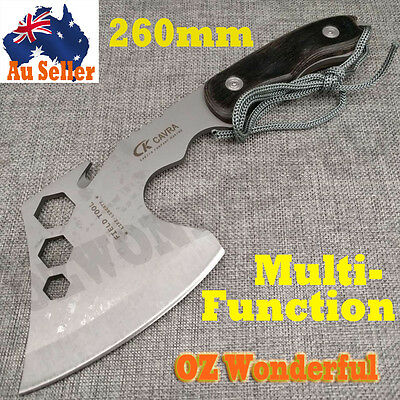 Camping Axe Outdoor Camping Survival Tool Chop Throwing Bottle Opener Hiking