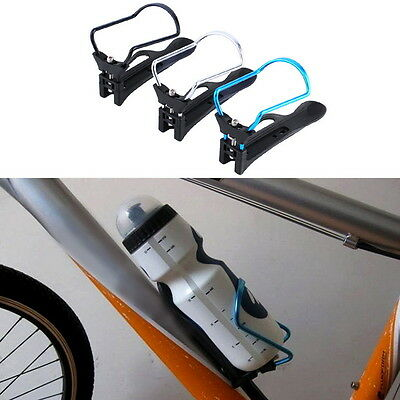 Bike Bicycle Cycle Aluminum Alloy Rack Water Drink Bottle Holder Bracket Cage E5
