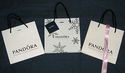 PANDORA - UNFORGETTABLE MOMENTS - 3 x GIFT BAGS - 16 x 16 x 6 CM - NEW
