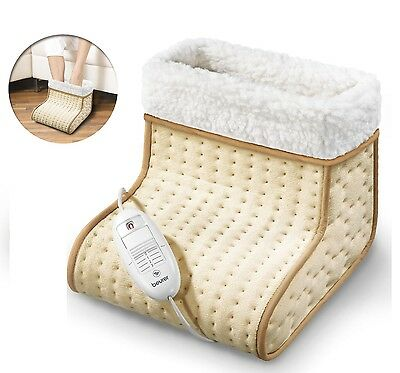 Electric Foot Warmer Beurer Fleecy Cosy Feet Warming Home Office Relaxation heat