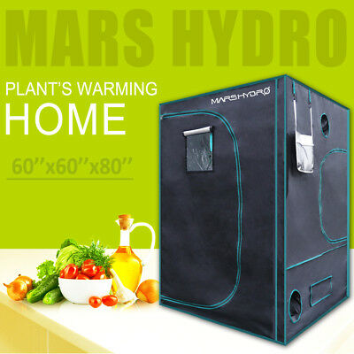 "Mars 57""x57""x78"" Indoor Grow Tent Room Reflective Mylar Hydro Hut Home Box Plant"