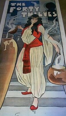 """Vintage British Poster on Linen """"The 40 Thieves"""""""