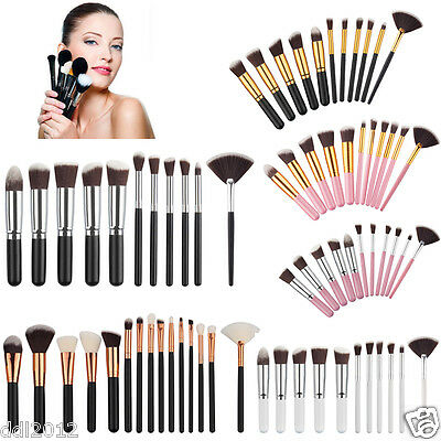 Pro 15PC Makeup Brushes Soft Face Powder Foundation Blusher Contour Brushes Tool