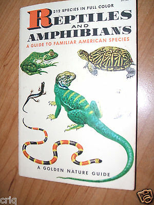 'Reptiles And Amphibians' A Golden Nature Guide 212 Species In Full Color 160 pg