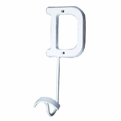 Letter Hook  D Wrought Iron White Decorative | Renovators Supply