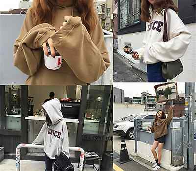 Fashion design WOMEN Large Leisure loose thin letters Printed hooded sweater04