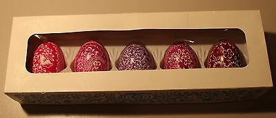 Vintage Hand-painted Easter Eggs, Assorted,colors, Five from Czechoslovakia