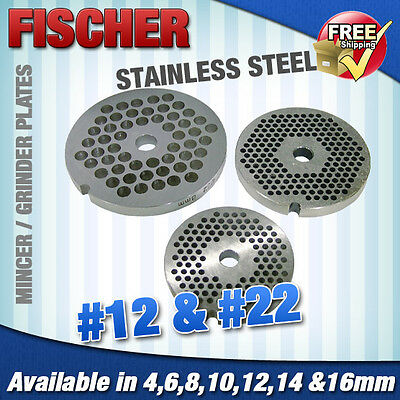 """""""new"""" Mincer - Grinder Cutting Plates -  #12 & #22 In Various Sizes Available"""
