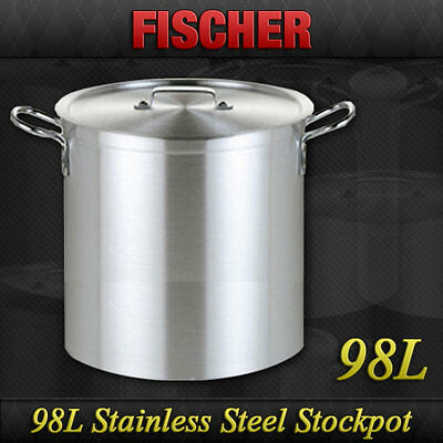 """brand New"" 98L Commercial 18/10 Stainless Steel Stock Pot Cookware Sp-98"