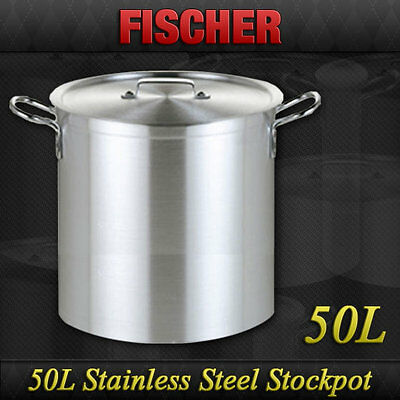 """brand New"" 50L Commercial 18/10 Stainless Steel Stock Pot Cookware Sp-50"
