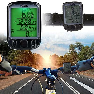 Wholesale New Waterproof Bike Bicycle Cycling LCD Computer Odometer Speedometer
