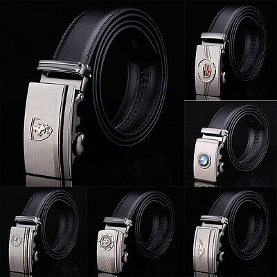 Fashion Casual Luxury Mens Belt Cowhide Leather Automatic Buckle Waistband Strap