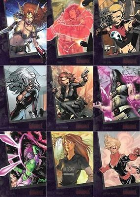 Marvel - The Women of Marvel - Series 2 - Complete Card SET (90) - 2013 - NM