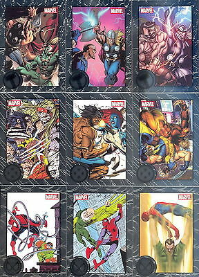 Marvel - Greatest Battles - Silver Foil Complete Trading Card SET (90) 2013 - NM