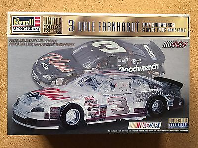 Revell Monogram Dale Earnhardt Model Car, Clear Body, Limited Edition, 1:24, NEW
