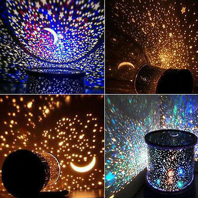 LED Amazing Starry Night Sky Projector Lamp Star Light Cosmos Master Kids Gift