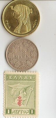 *Lot  of  of  WWI  and  WW2 - *us  and  *german  Stamps  and  COINS