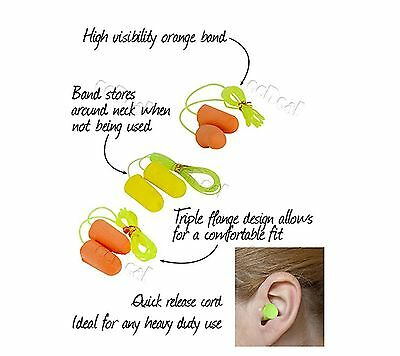 1 pair Ear Plugs with Convienient Cord Random Colour