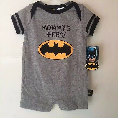 New Toddler Baby Romper Jumpsuit Playsuit Outfits Clothing Batman Mommy's Hero