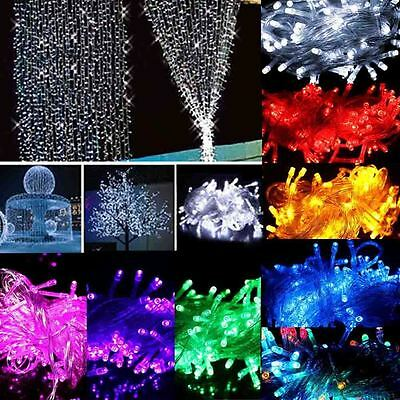 100 LED String Fairy Lights Lamp Battery Operated Xmas Tree Party Room Decor 10M